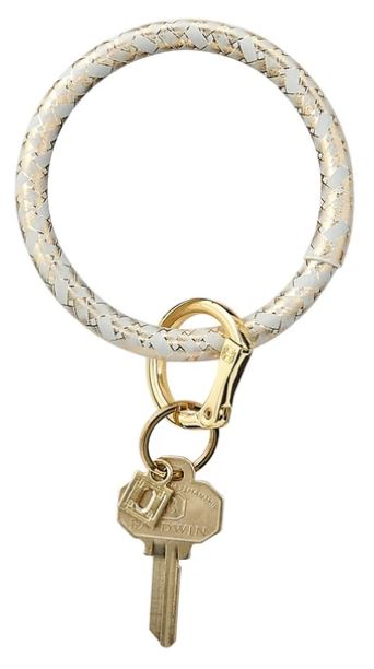 O-Ring - Leather Keychains Oventure Gold Rush Basketweave