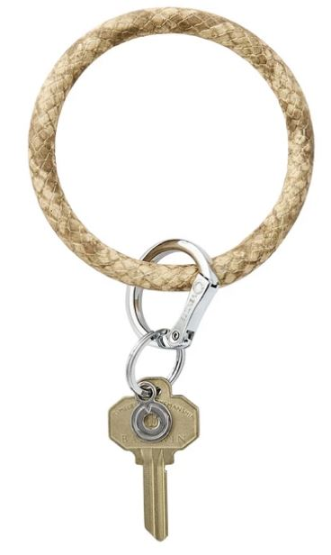 O-Ring - Leather Keychains Oventure On The Beach Snakeskin