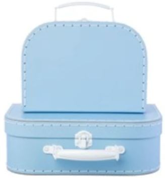 Pastel Toy Suitcase Toy Boxes Sass and Belle Blue Small