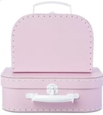 Pastel Toy Suitcase Toy Boxes Sass and Belle Pink Small