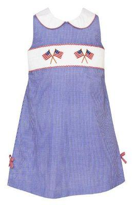 Patriotic Flags Dress with Ties Dresses Velani
