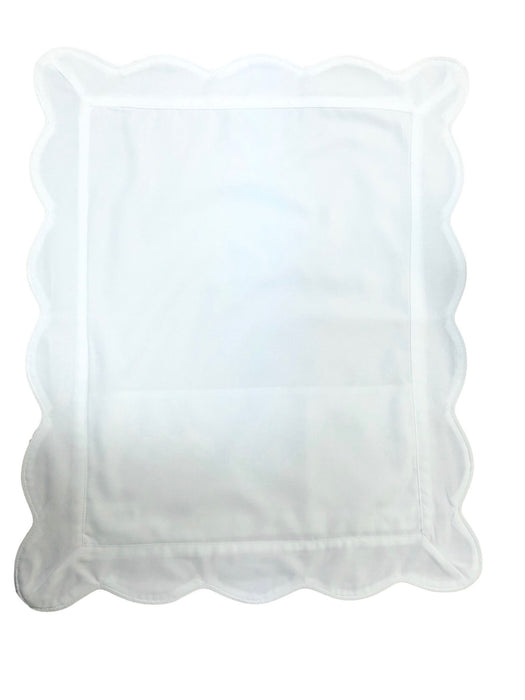 Piped Scalloped Trim Baby Pillow Sham Pillows Duc Star White Trim
