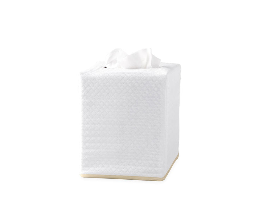 Piped Tissue Box Cover Tissue Box Covers Matouk Champagne