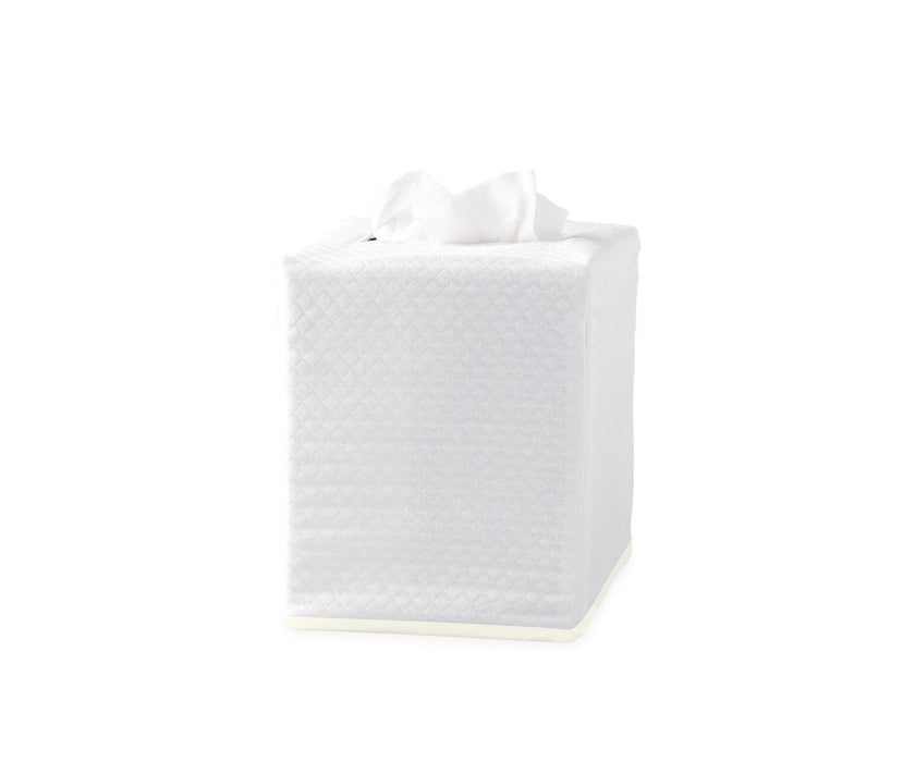 Piped Tissue Box Cover Tissue Box Covers Matouk Ivory