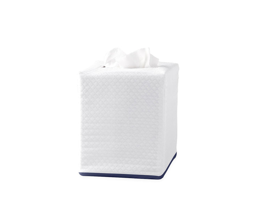 Piped Tissue Box Cover Tissue Box Covers Matouk Navy