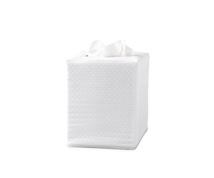 Piped Tissue Box Cover Tissue Box Covers Matouk Silver
