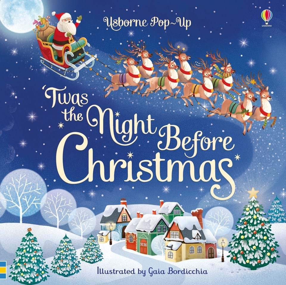 Pop-Up 'Twas the Night Before Christmas Book Usborne