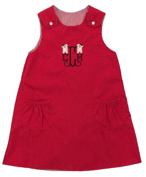 Reversible Red Gingham Jumper Dress Dresses Rosalina 3T