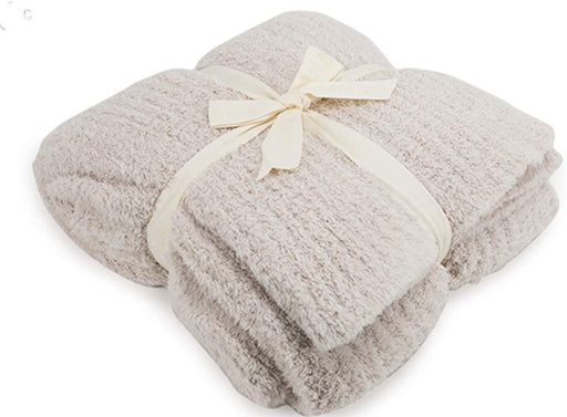 Ribbed Throw - Barefoot Dreams Throws Barefoot Dreams Almond