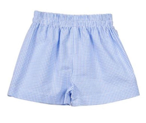 Seersucker Shorts - NO MONO Shorts Color Works Light Blue 12m