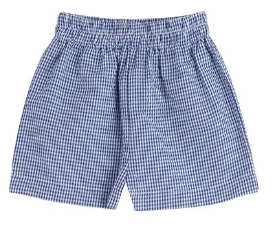 Seersucker Shorts Shorts Color Works Navy 12m