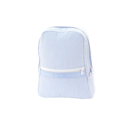 Small Backpack Backpacks OhMint Light Blue Seersucker