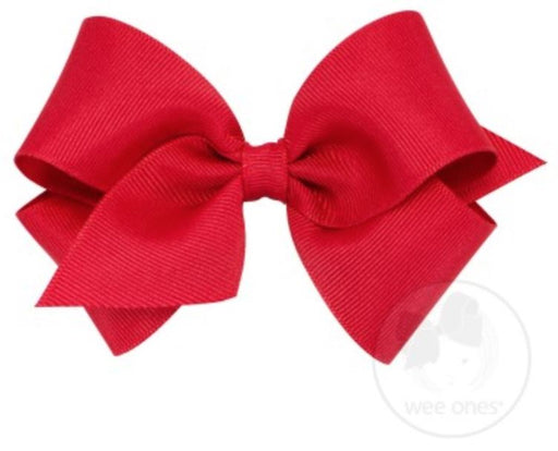 Small Hair Bow Hair Bows WeeOnes Red