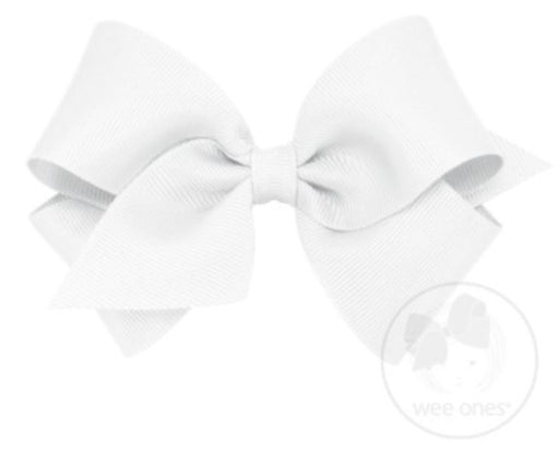 Small Hair Bow Hair Bows WeeOnes White