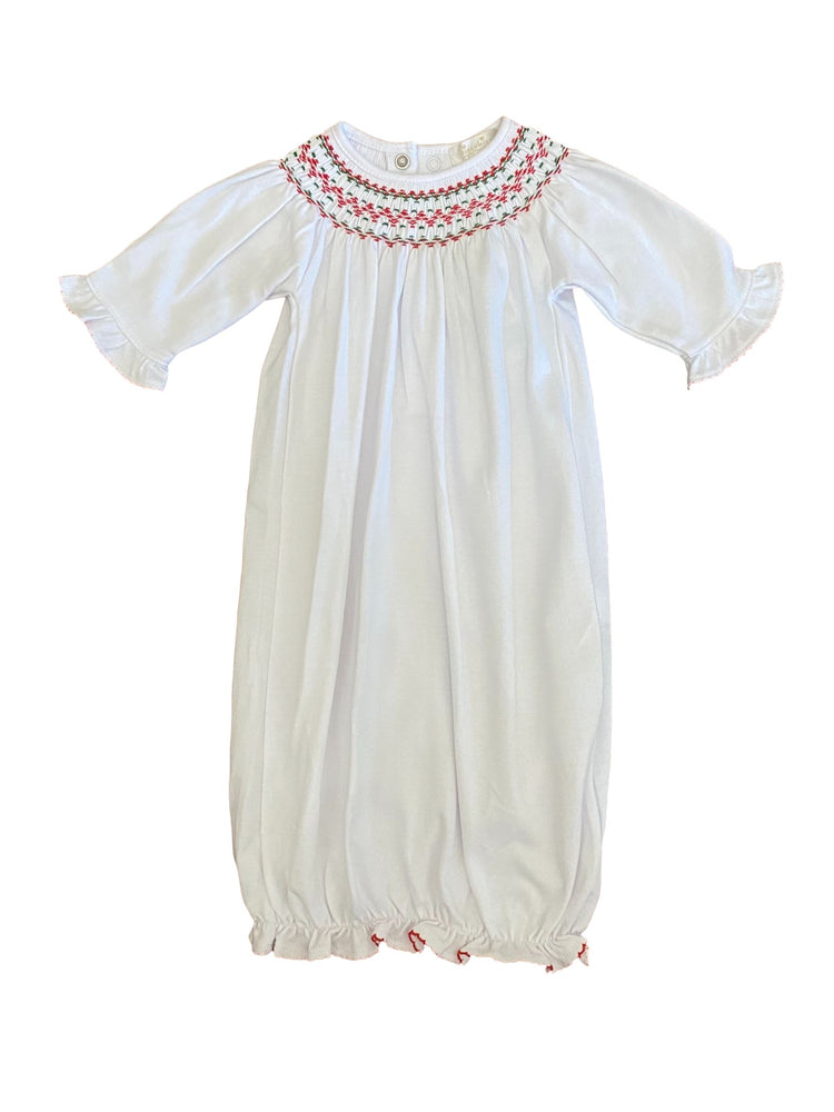 Smocked Holiday Gown Gown Kissy Kissy