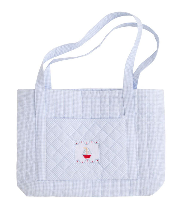 Smocked Quilted Luggage Bags and Totes Little English Sailboat Tote