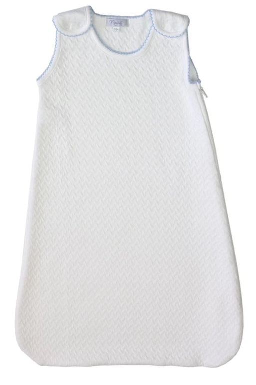 Snap Basket Weave Sleep Sack Sleep Sack Nella Pima Blue 3-6m