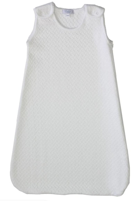 Snap Basket Weave Sleep Sack Sleep Sack Nella Pima White 3-6m
