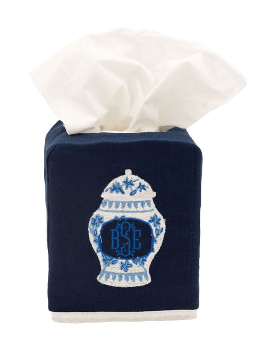 Solid Tissue Box Cover Tissue Box Covers Matouk Sapphire
