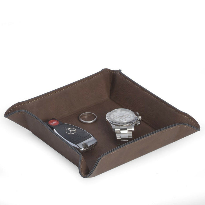Square Leather Valet Tray Valet Trays Bey Berk Int Brown