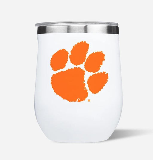 Stemless Wine 12oz Drinkware Cork Clemson