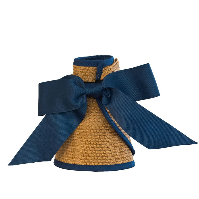 Straw Visor with Ribbon Closure Visors MSC Navy