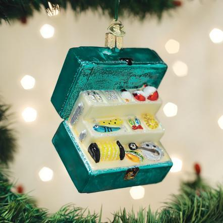 Tackle Box Ornament Ornament Old World Country