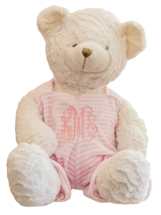 Teddy Bear with Overalls Teddy Bears Birchwood Trading Pink