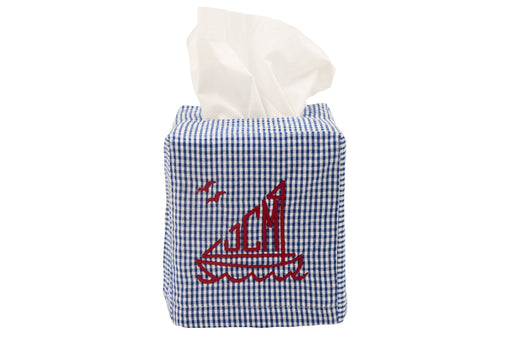 Tissue Box Cover Tissue Box Covers Royalty Collection Navy Gingham