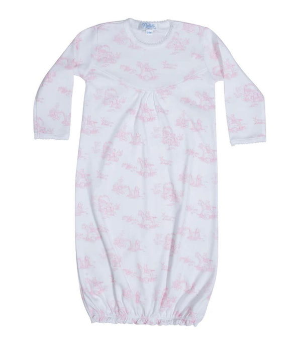 Toile Baby Gown Baby Gown Nella Pima Pink