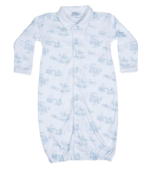 Toile Converter Gown Baby Gown Nella Pima Blue