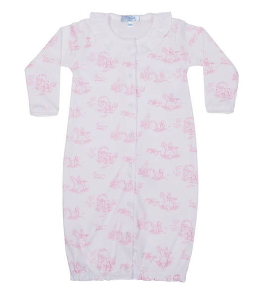 Toile Converter Gown Baby Gown Nella Pima Pink