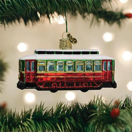 Trolley Ornament Ornament Old World Country