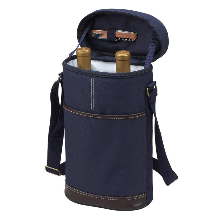 Two Bottle Navy Insulated Bag Cooler Bags Picnic at Ascot
