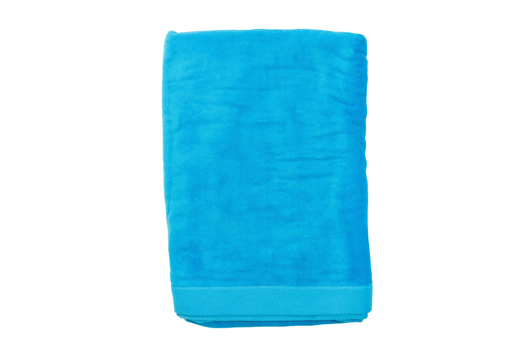 Velour Beach Towel Beach Towels Terry Town Bright Blue