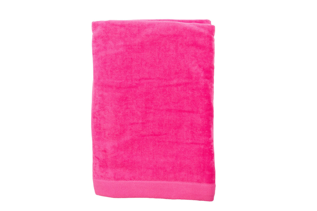 Velour Beach Towel Beach Towels Terry Town Hot Pink