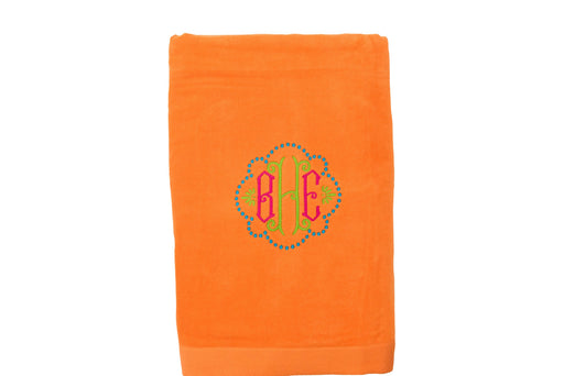 Velour Beach Towel Beach Towels Terry Town Orange