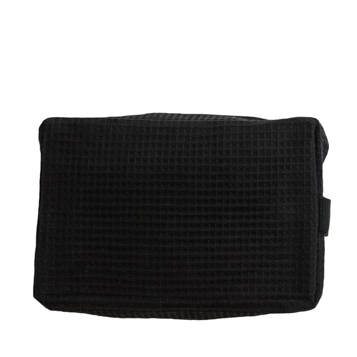 Waffle Cosmetic Bag Makeup Bag Pendergrass Black Large