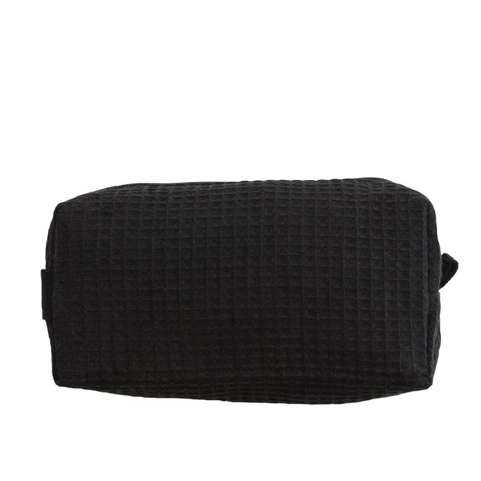 Waffle Cosmetic Bag Makeup Bag Pendergrass Black Small