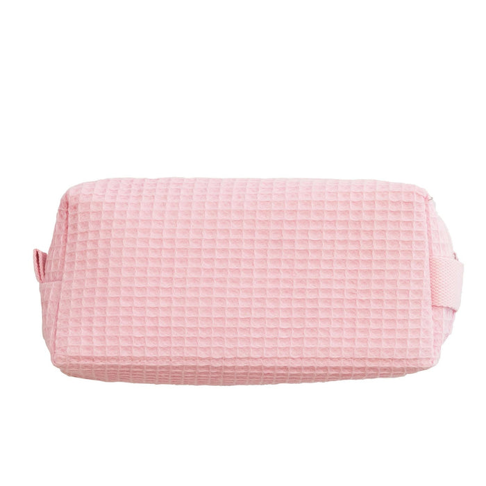 Waffle Cosmetic Bag Makeup Bag Pendergrass Light Pink Small