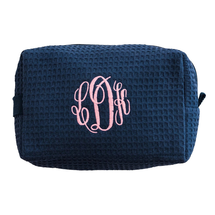 Waffle Cosmetic Bag Makeup Bag Pendergrass Navy Large