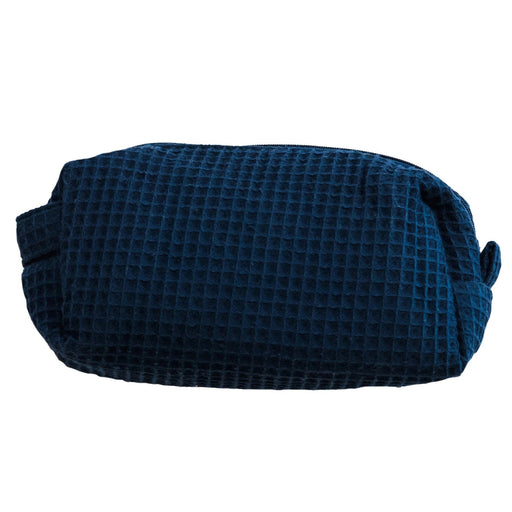 Waffle Cosmetic Bag Makeup Bag Pendergrass Navy Small