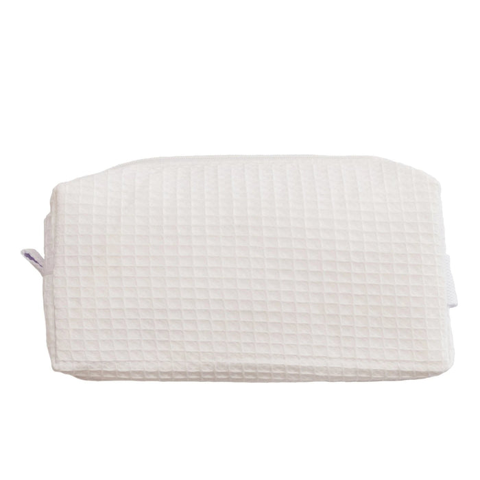 Waffle Cosmetic Bag Makeup Bag Pendergrass White Small