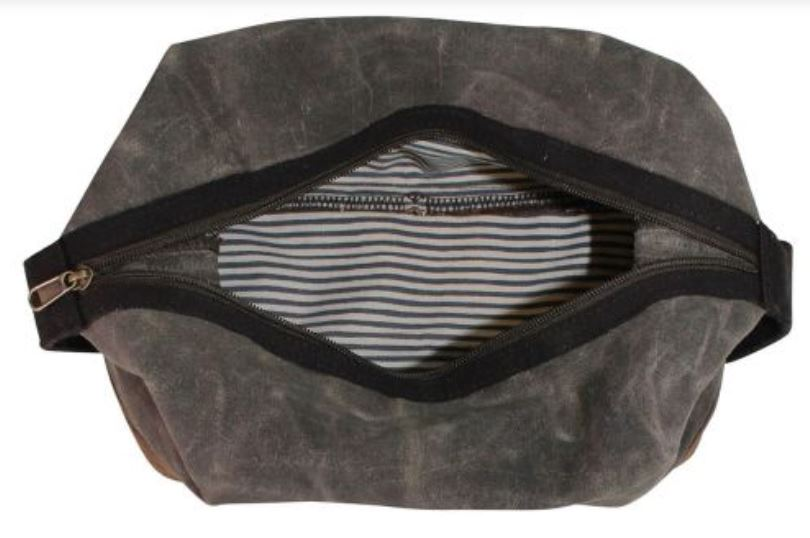 Waxed Unlined Dopp Kit Dopp Kits CB Station