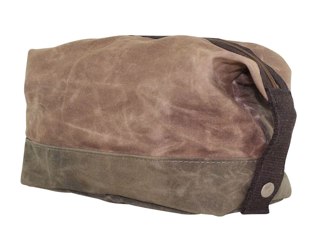 Waxed Unlined Dopp Kit Dopp Kits CB Station Khaki