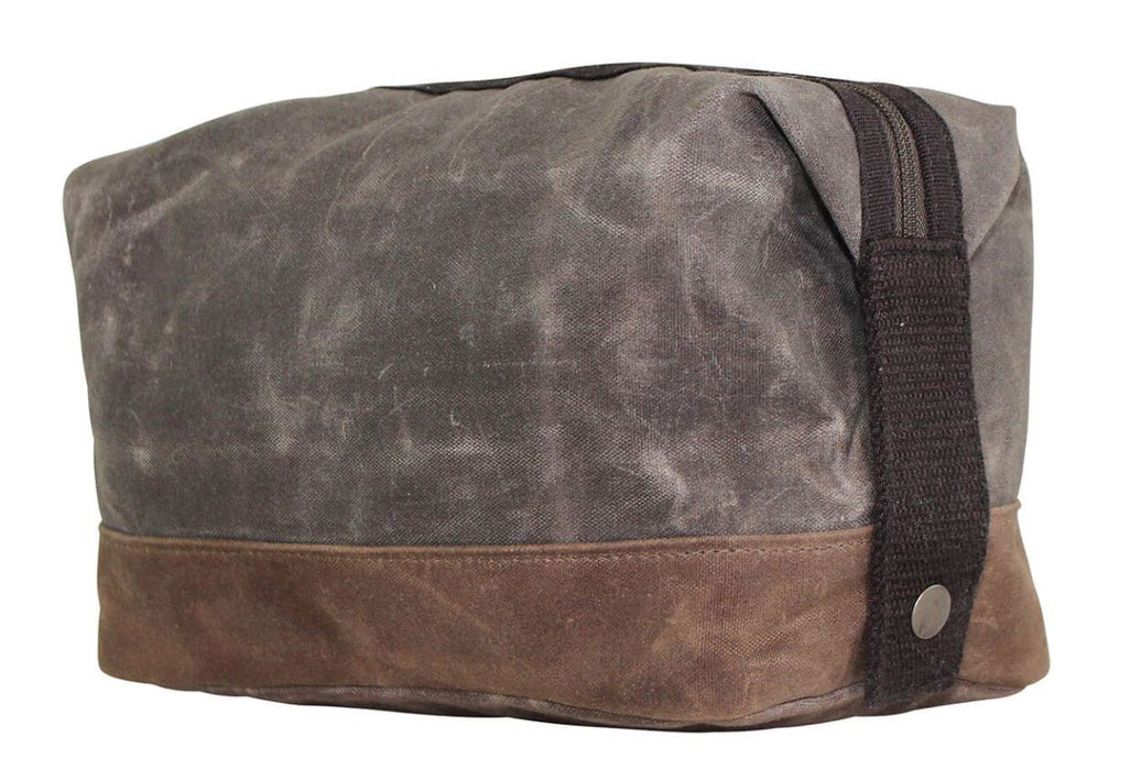 Waxed Unlined Dopp Kit Dopp Kits CB Station Olive