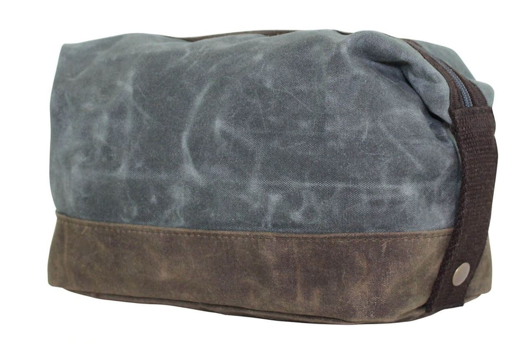 Waxed Unlined Dopp Kit Dopp Kits CB Station Slate