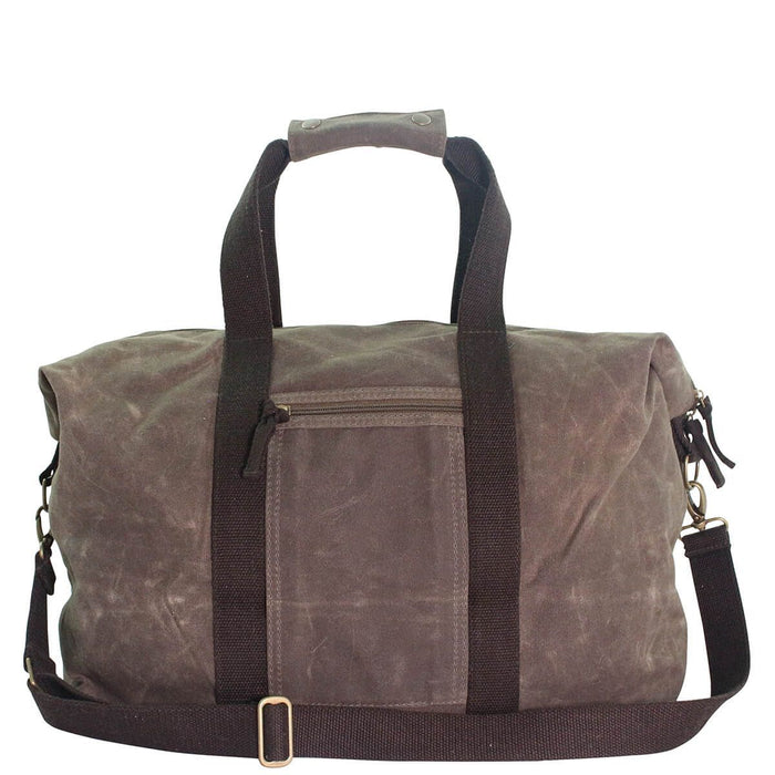Waxed Weekender Duffles CB Station Olive with Khaki