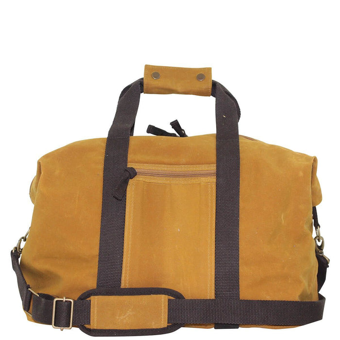 Waxed Weekender Duffles CB Station Yellow with Khaki