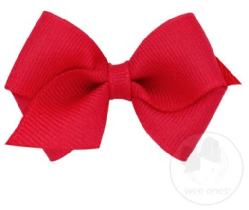Wee Hair Bow Hair Bows WeeOnes Red
